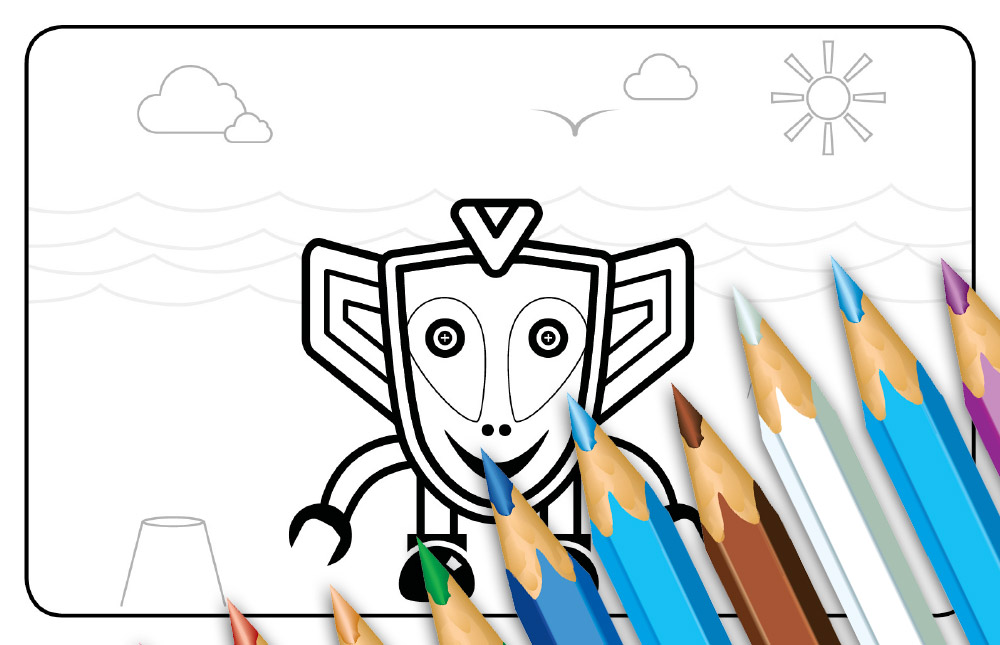 Scoot Colouring Pages
